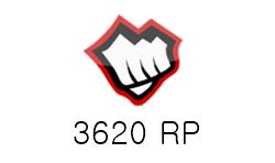 League of Legends 3620 RP