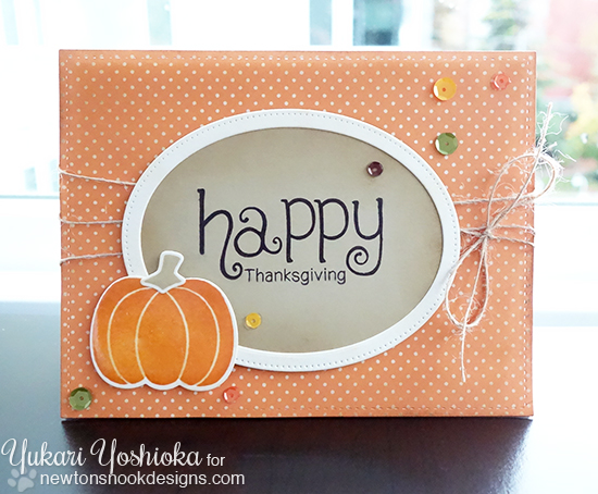 Happy Thanksgiving Card by Yukari Yoshioka | Simply Seasonal Stamp set by Newton's Nook Designs #newtonsnook