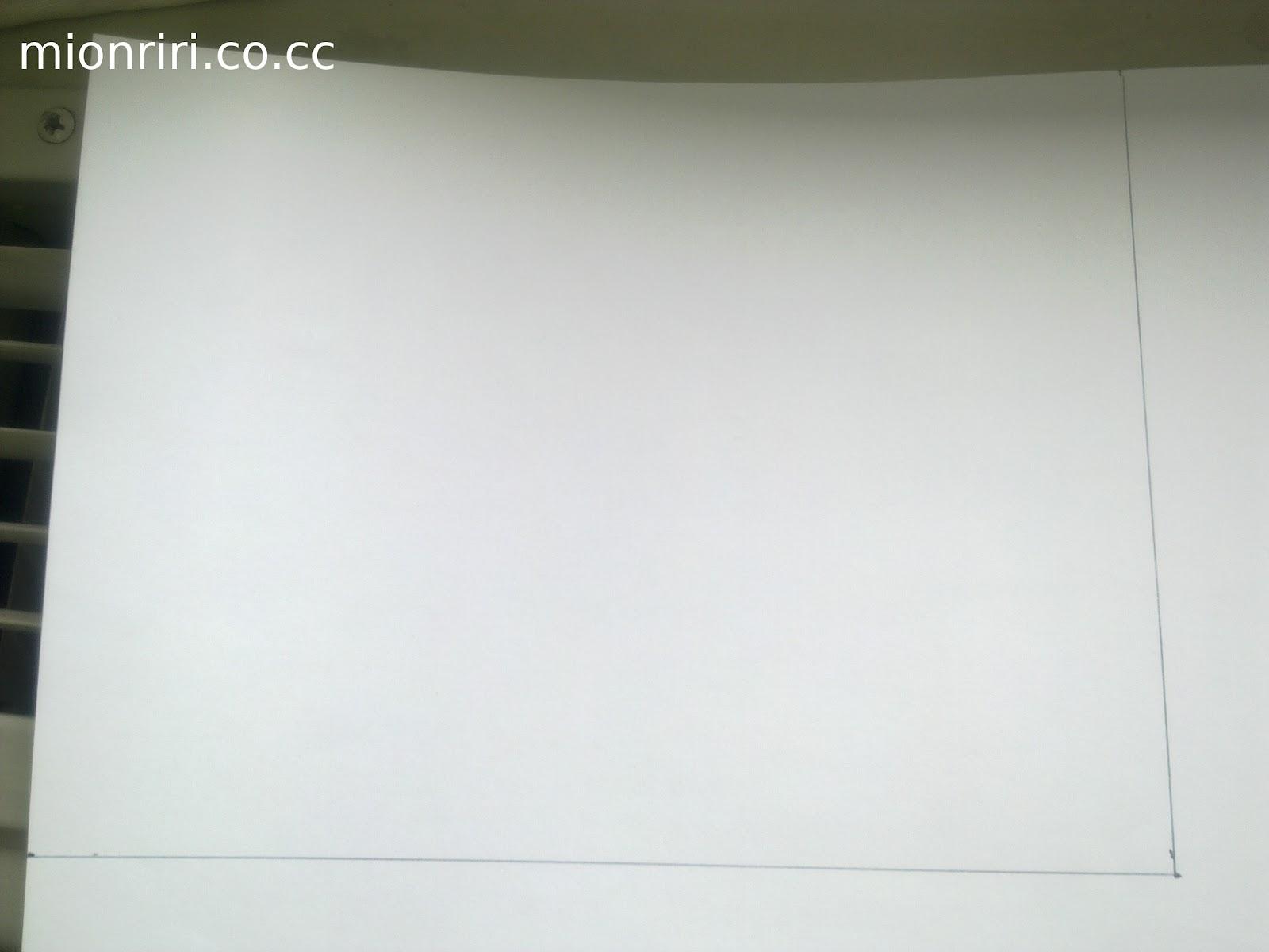 membuat pola di kertas hvs untuk bingkai bagian belakang