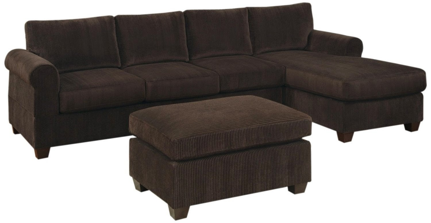 Couch with chaise for Brown sectional sofa with chaise