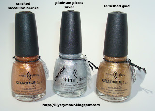 China Glaze Metallic Crackle Nail Polish!