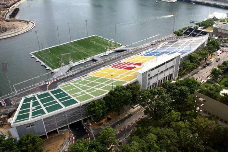 Platform di Teluk Marina, Stadion Terapung Terbesar Di Dunia