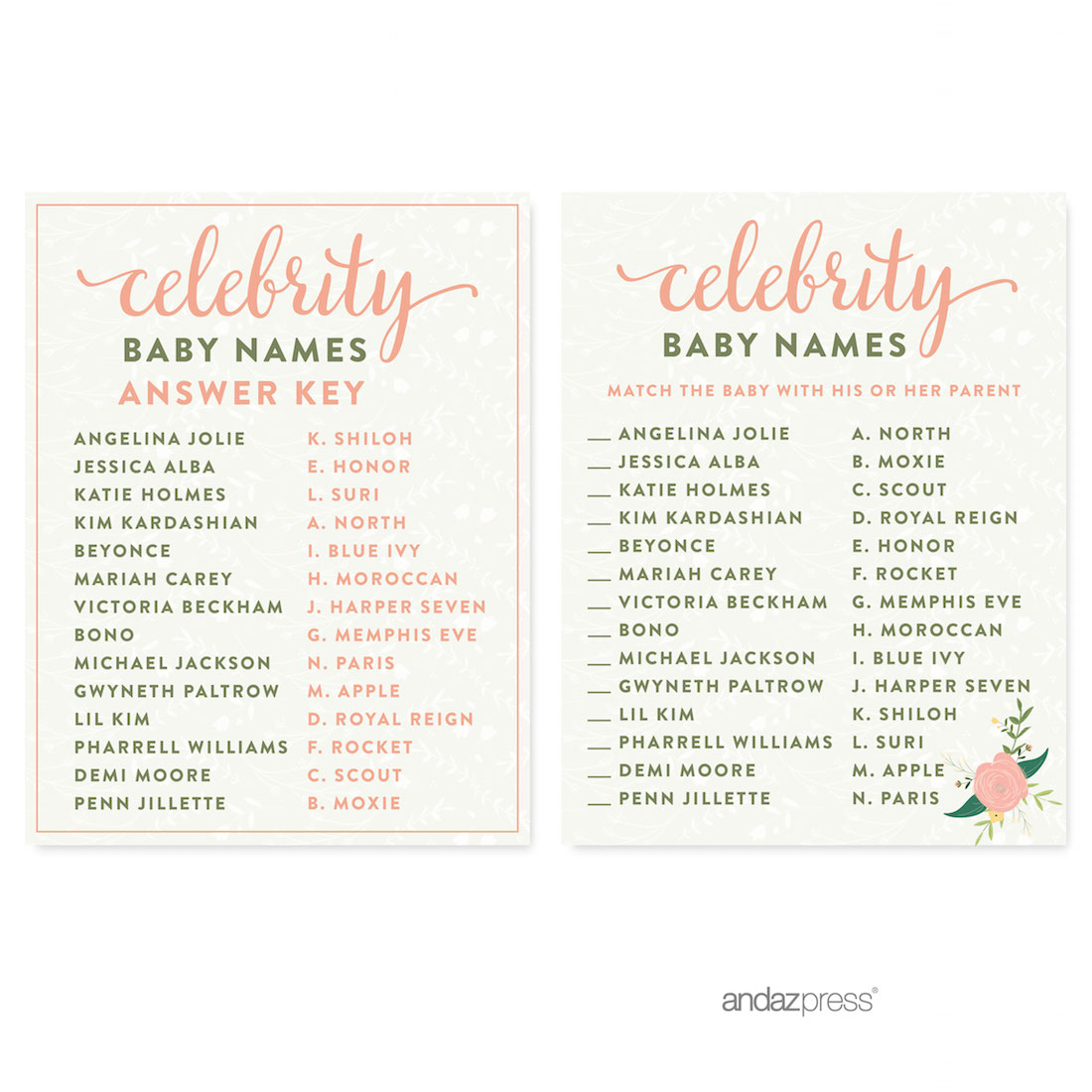 Andaz Press Floral Roses Girl Baby Shower Collection Fancy Frame Label Stickers Its A 36 Pack