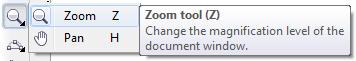 Mengenal bagian CorelDRAW - Zoom Tool