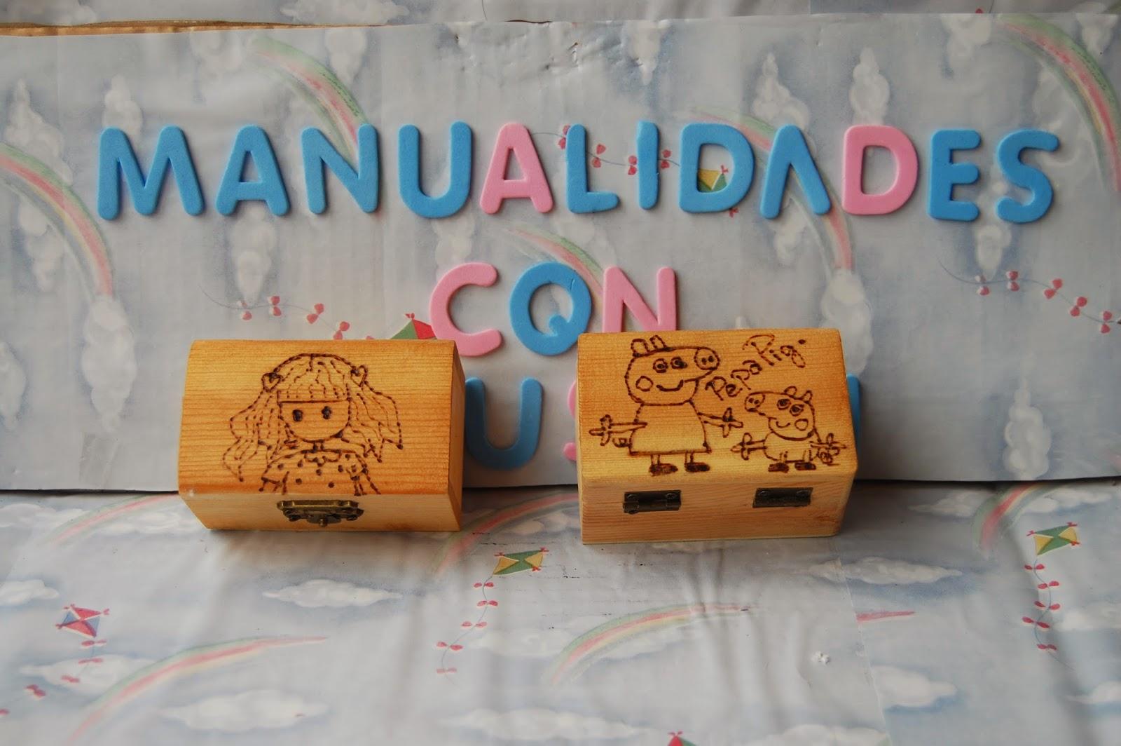 Manualidades con ilusion cajas madera talladas - Manualidades cajas madera ...
