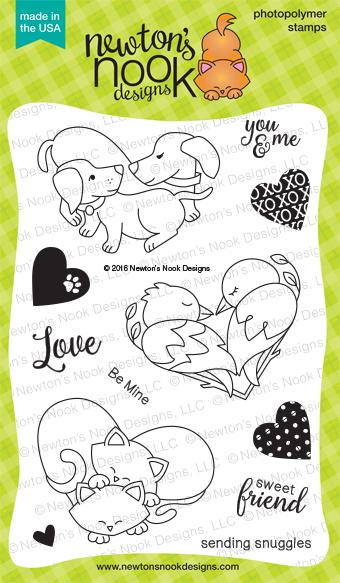Darling Duos Stamp Set | 4 x 6 Heart Animal Love Stamp set | Newton's Nook Designs #newtonsnook
