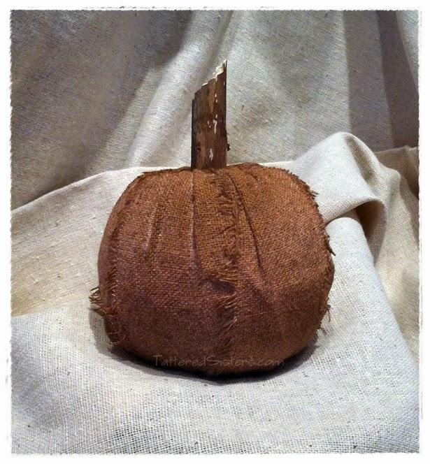 Grungy Primitive Pumpkin Decor