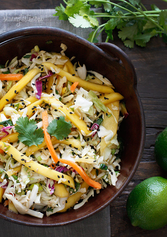 Asian Cabbage Mango Slaw | Skinnytaste