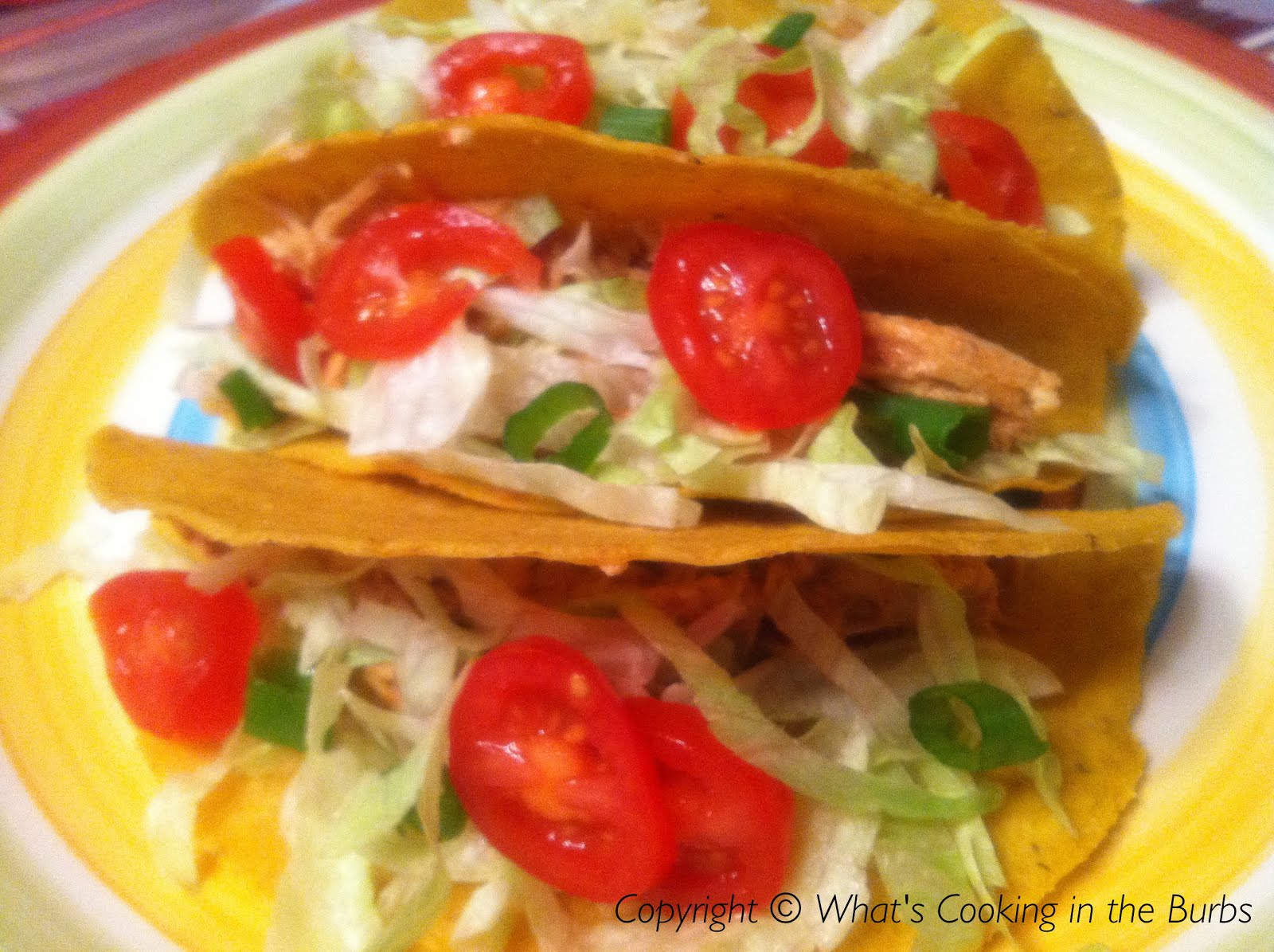 ... Cooking in the Burbs: Slow Cooker Spicy Cream Cheese Chicken Tacos