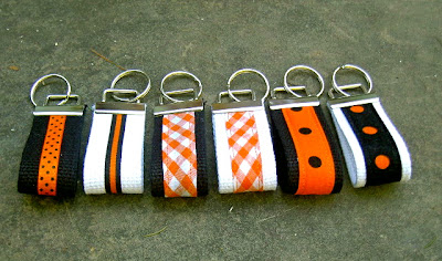diy Halloween fabric key fobs
