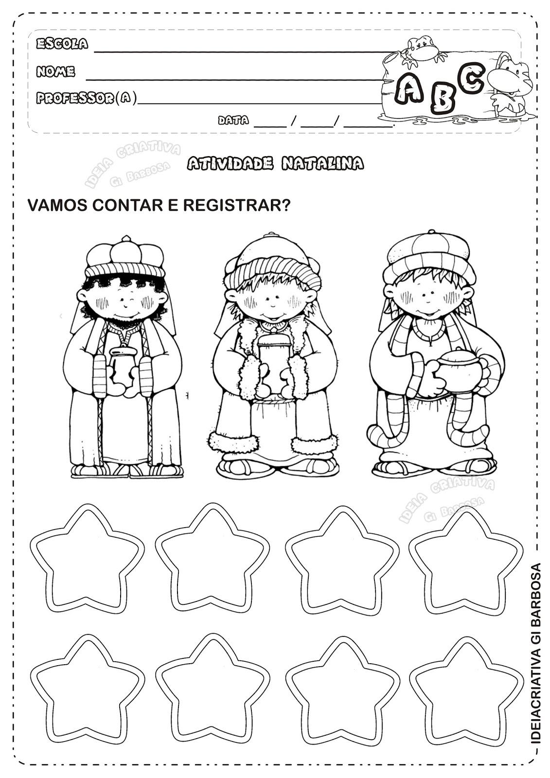 Excepcional Matemática Infantil: Atividade Natal Matemática Educação Infantil ZG79