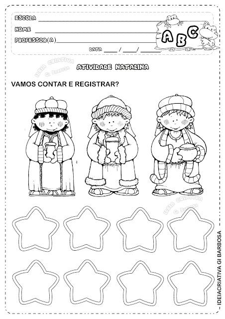 Atividade Natal Matemática Educação Infantil