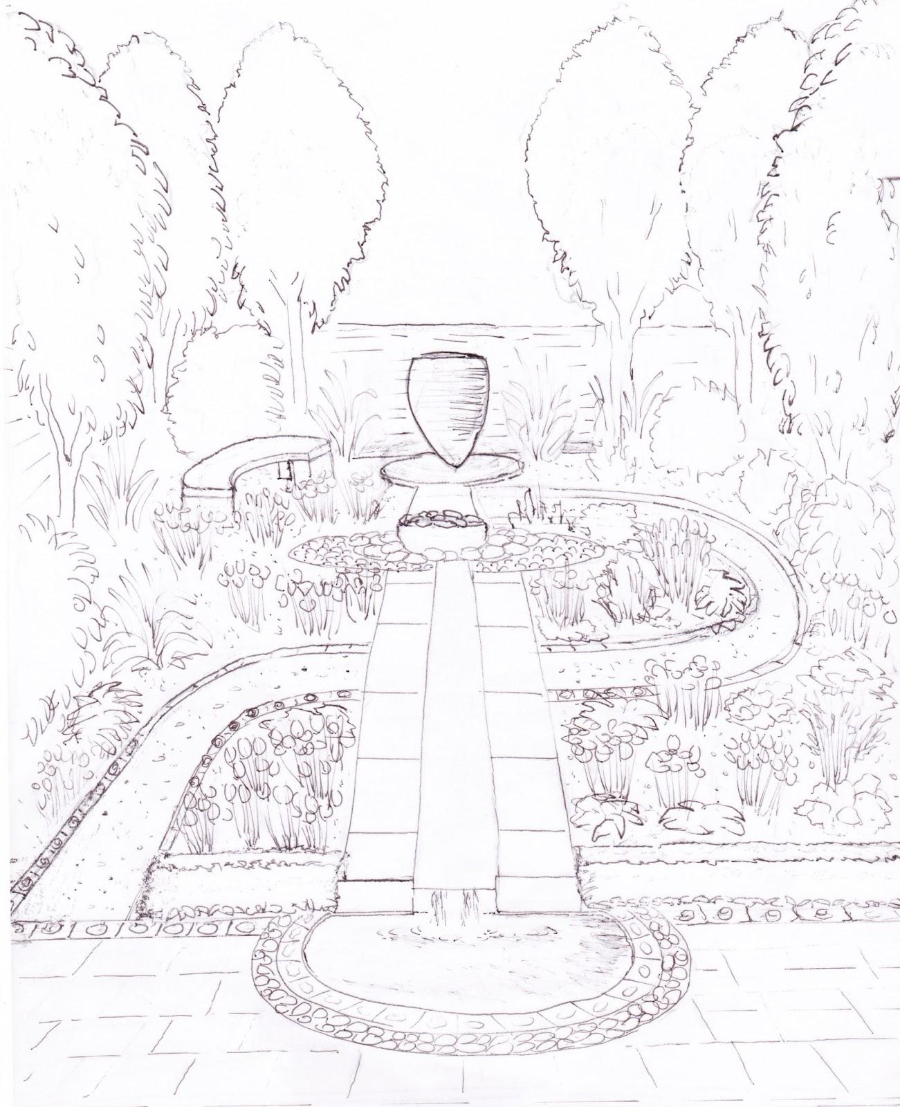 Flower garden sketch - My Show Garden