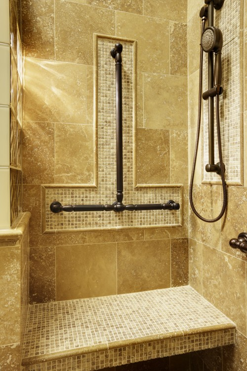 Bar Grab Bathroom Design in Shower