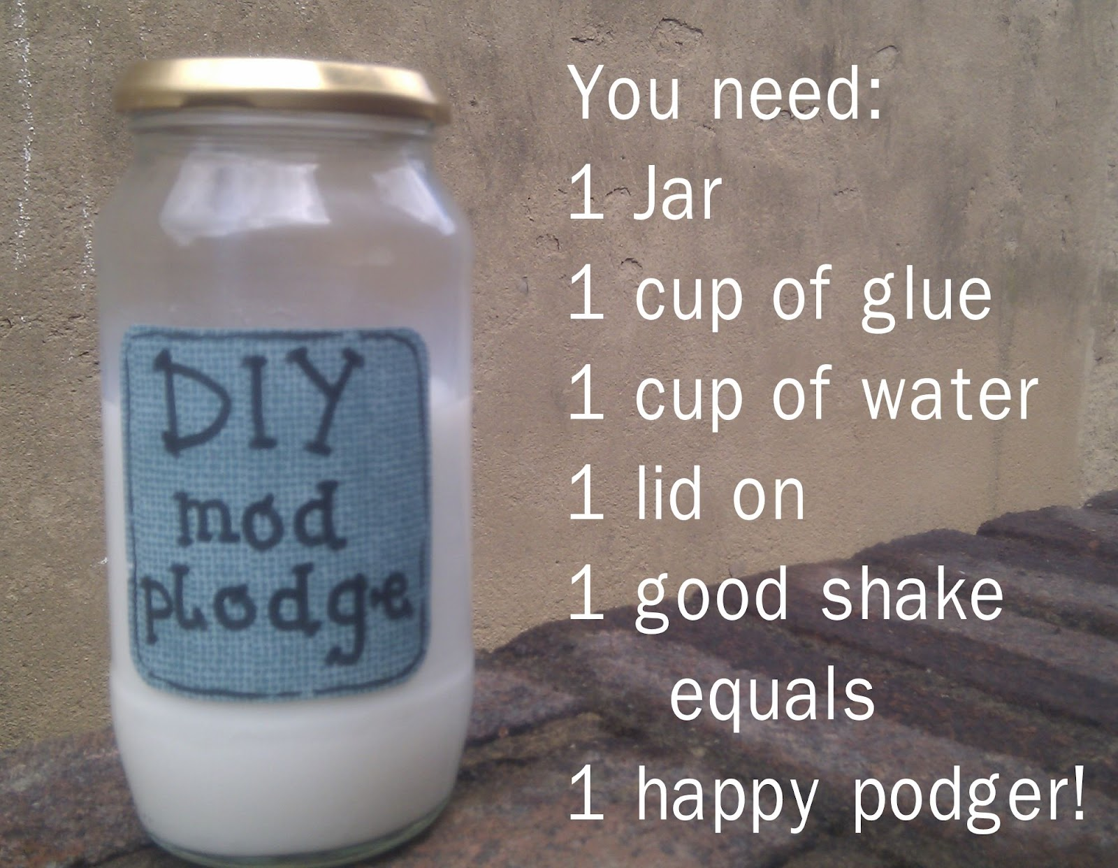 Kugalls diy mod podge for Mod podge recipe