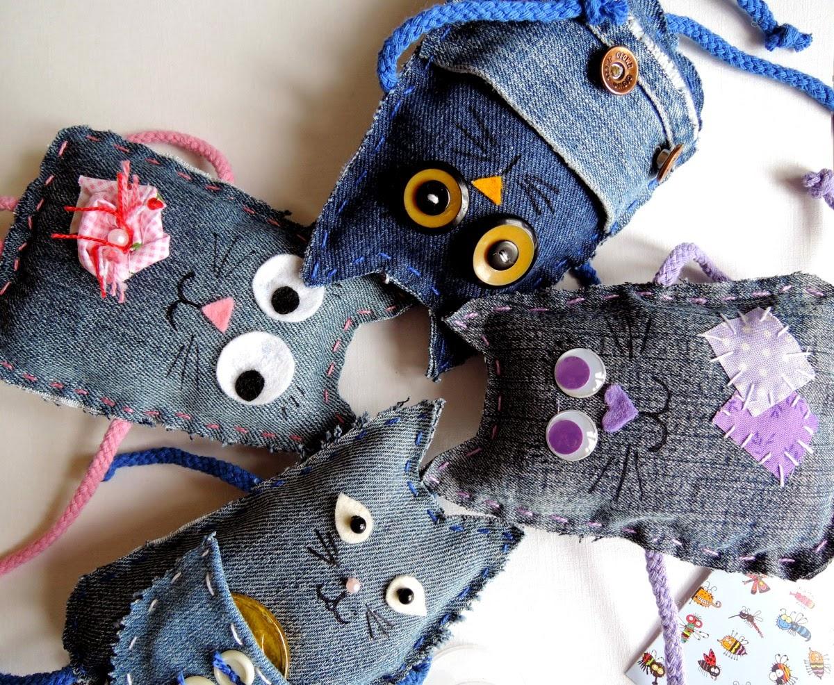 игрушки из джинсов