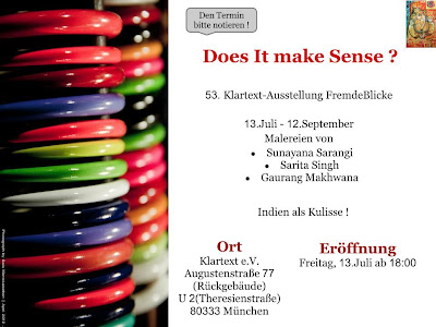 exhibition in munich by Indian artists