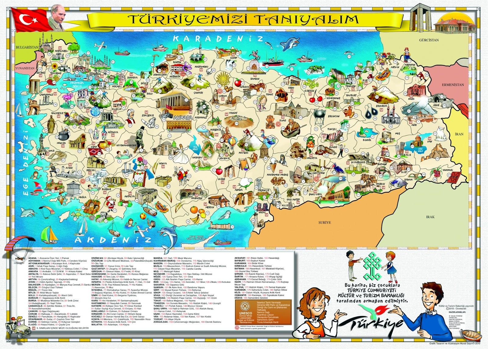 Turizm ve kültür haritası türkiye turizm ve kültür haritası