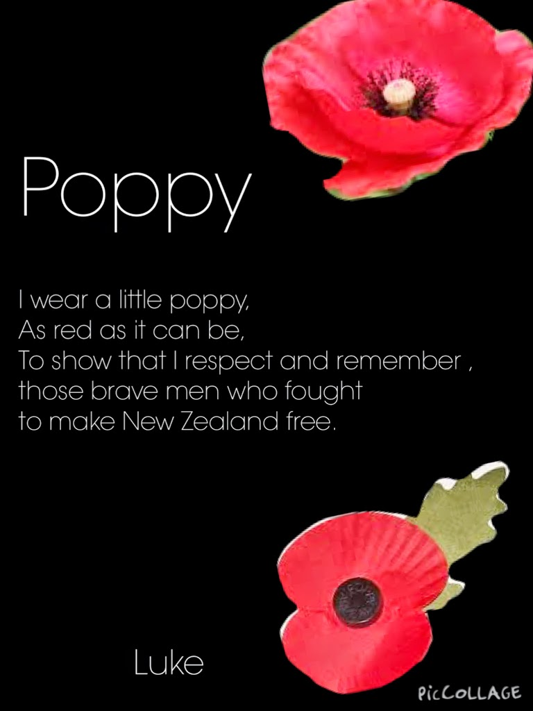 Miss ogle opunake primary poppy poems poppy poems mightylinksfo