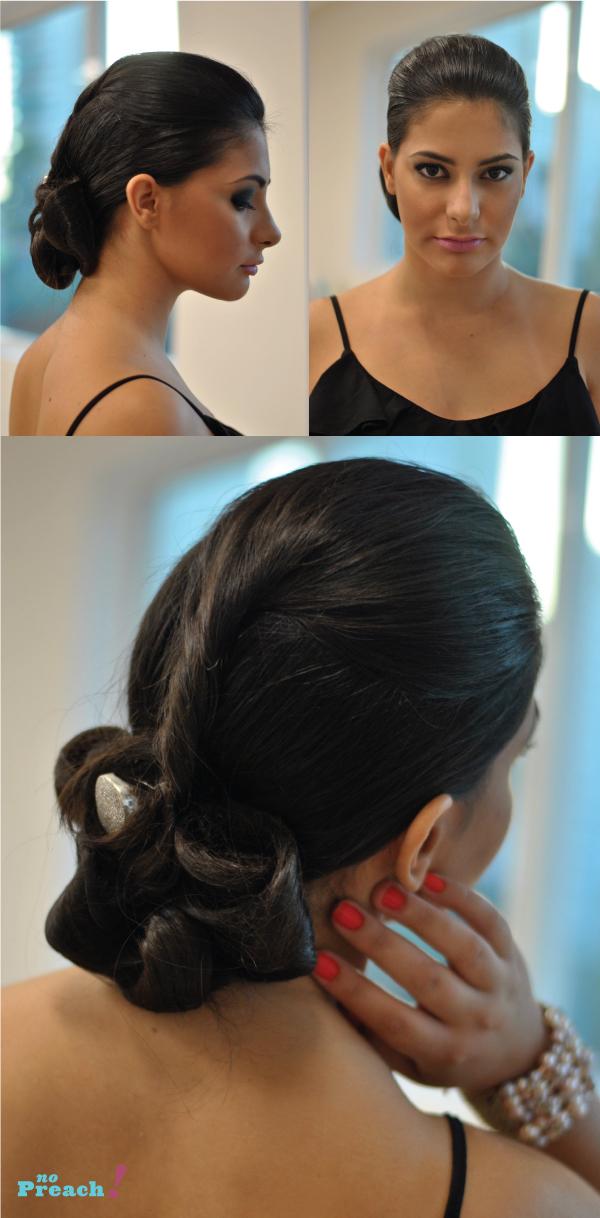 Coque - penteado de cabelo para festa de casamento, formatura, 15 anos