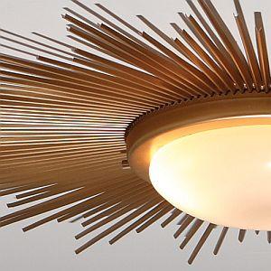Rosa Beltran Design DIY SUNBURST CEILING LIGHT