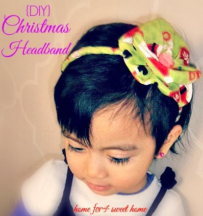 christmas headband for little girls