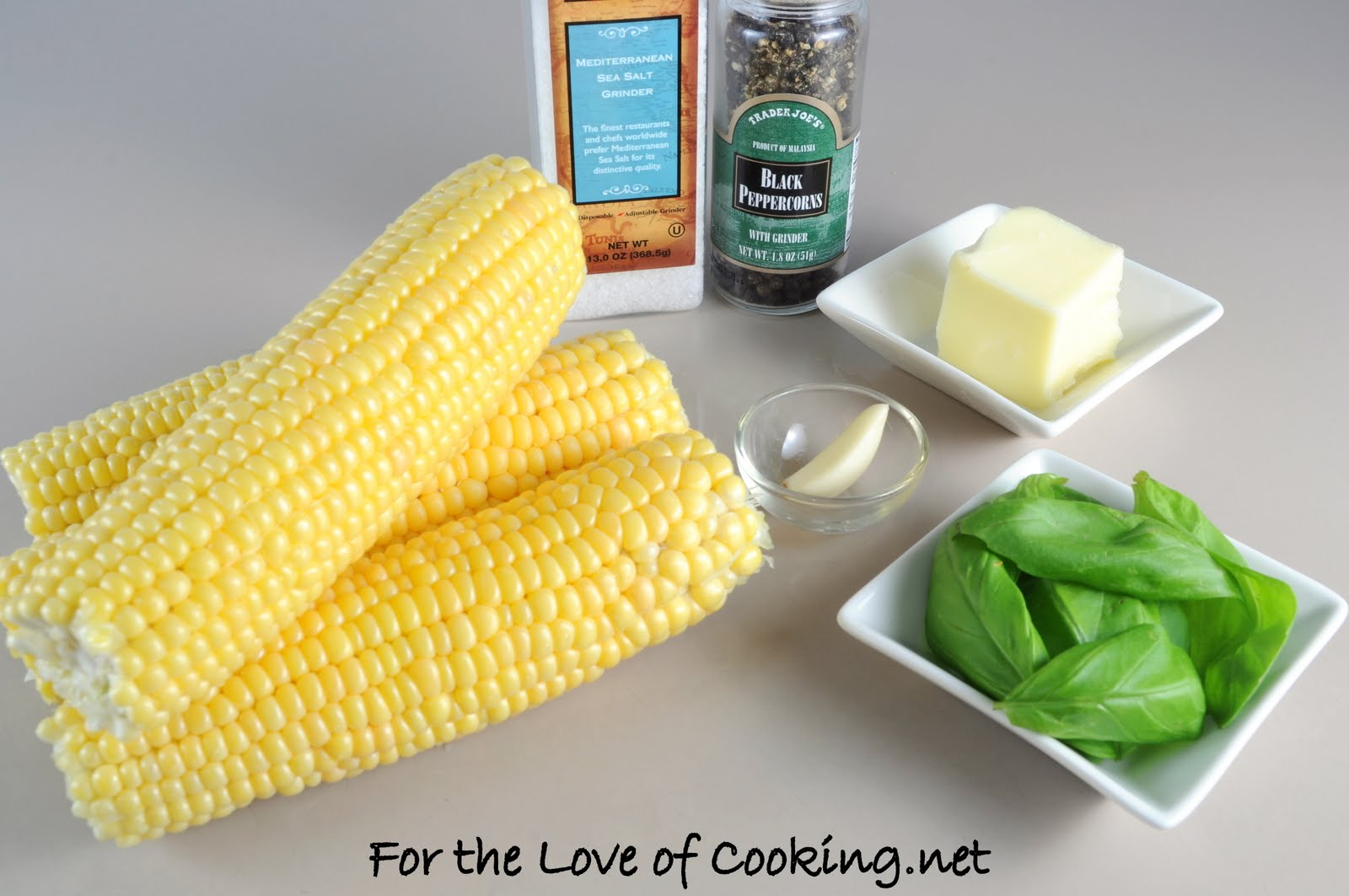 Corn on the Cob with Basil Garlic Butter | For the Love of Cooking