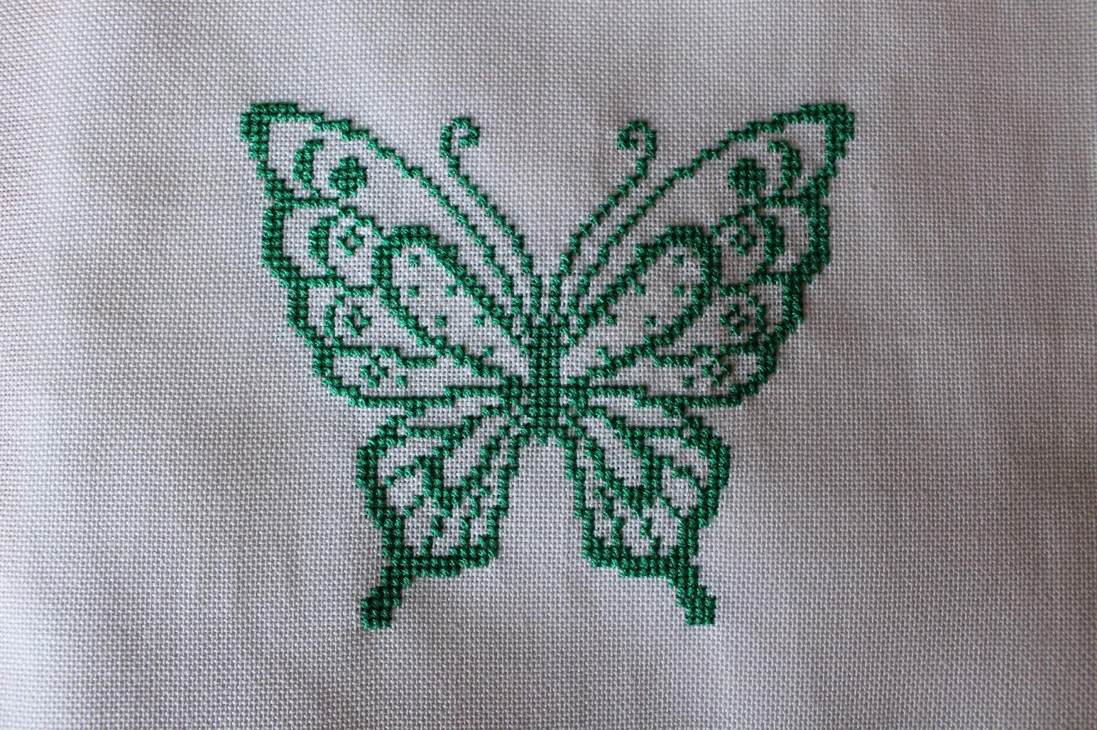 Casalollipop lo schema di una farfalla for Farfalle punto croce
