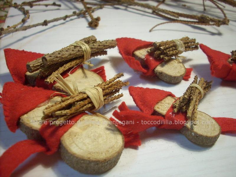 Tocco di li 39 lla 39 6 ancora decorazioni natalizie in - Decorazioni natalizie con il legno ...