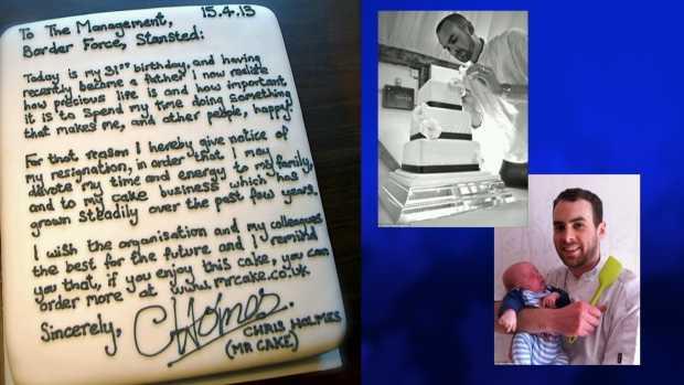 Cake resignation letter london Chris வித்தியாசமான கேக் ராஜினாமா கடிதம்