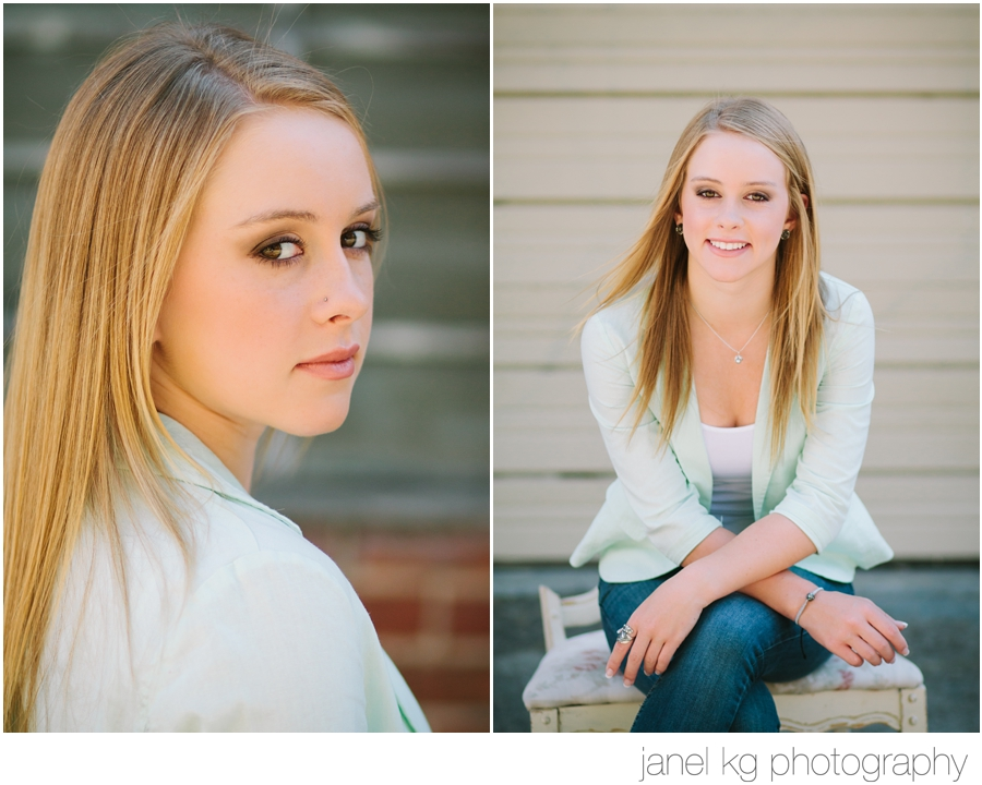 Professional hair and makeup for senior portrait shoots makes all the difference in the world!  Beautiful Audrey with Janel KG Photography