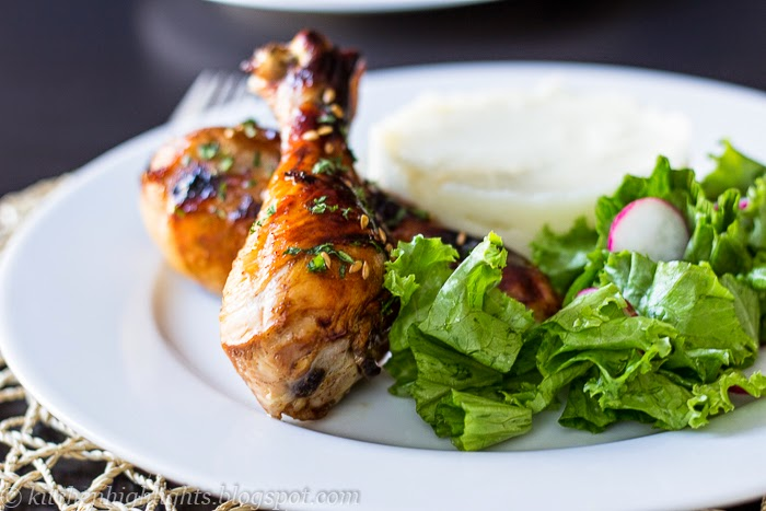 Sweet and sticky chicken drumsticks are easy to prepare and even easier to devour