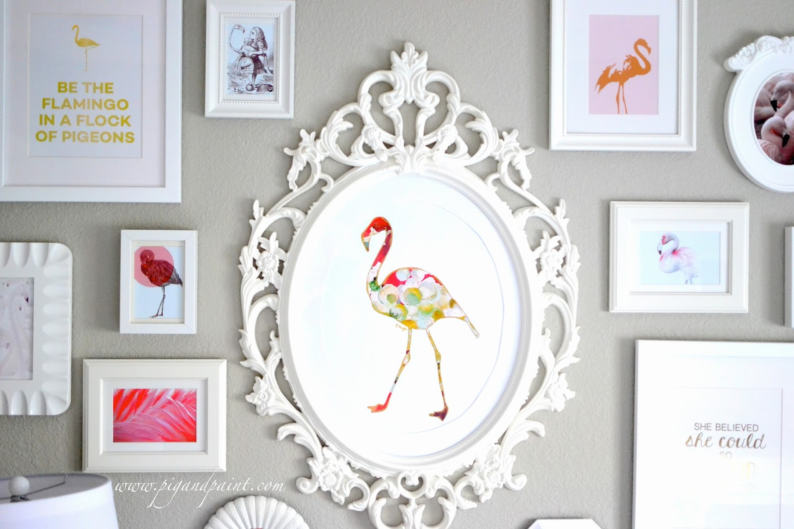 I Filled The Wall Opposite Of Her Crib With A Collection Flamingo Prints And Quotes That Resonated My Hopes Dreams For Baby