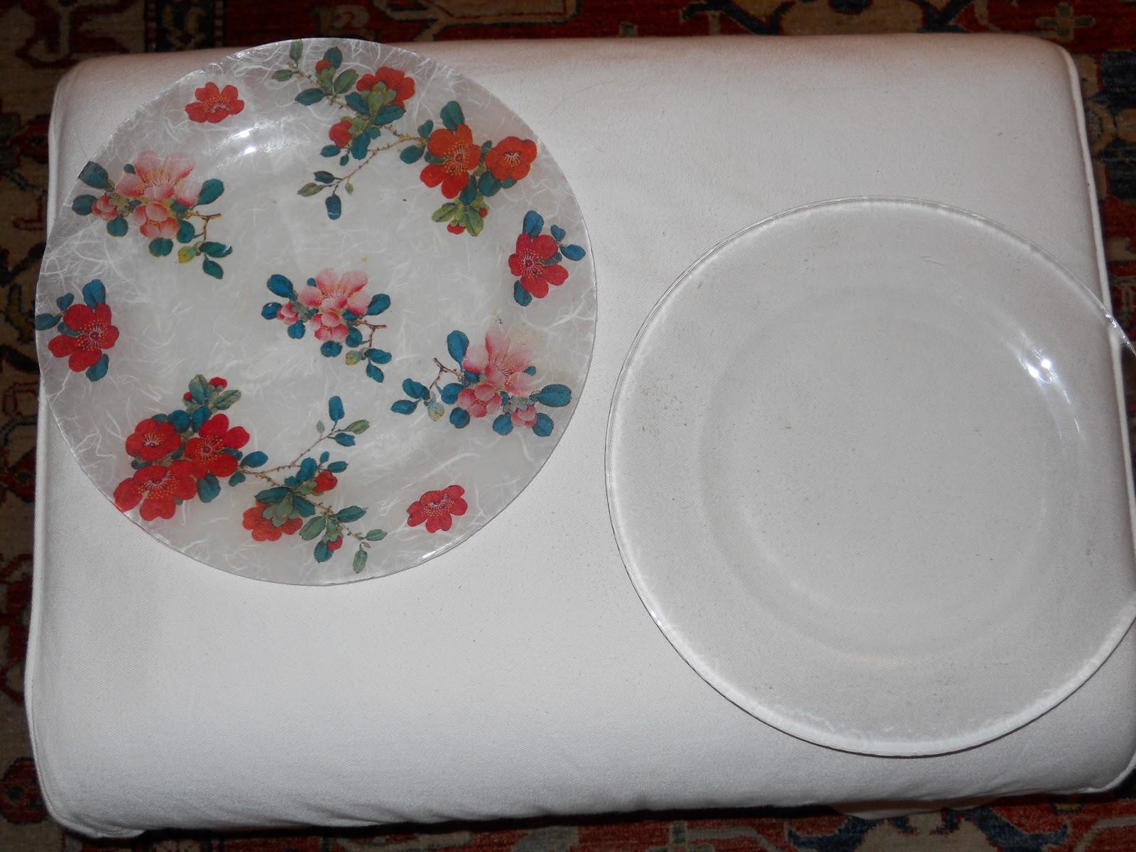 Uzzolo piatti decorati con carta di riso for Piatti decorati