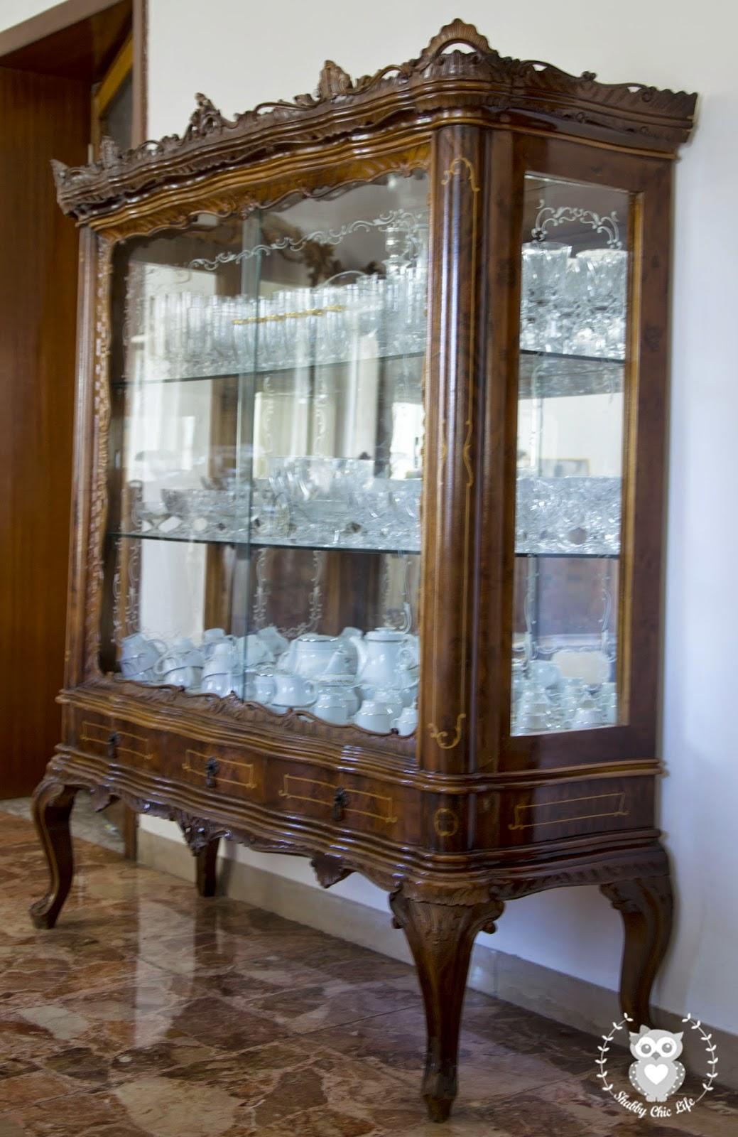 vetrina chippendale brocante antichità