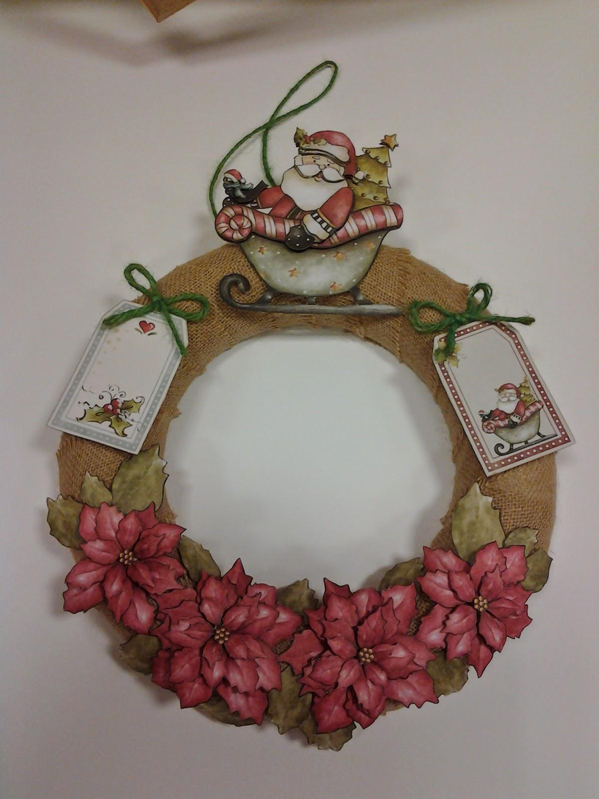 Corona de navidad aprender manualidades es facilisimocom - Coronas de navidad ...