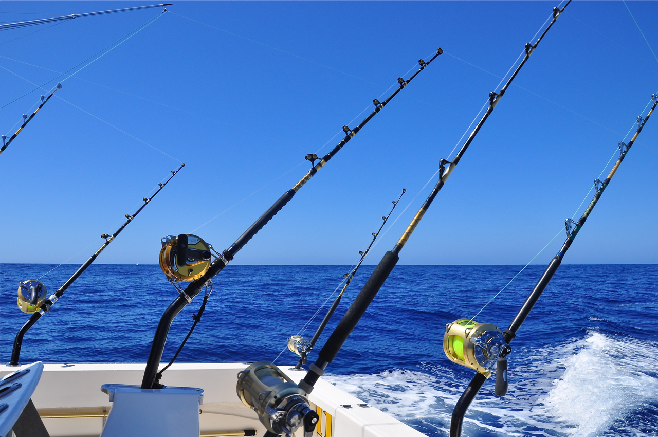 Marlin fishing rod Trolls fishing pole