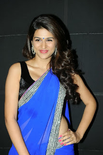 Actress Shraddha Das  Pictures in Saree at Rey A to Z Look Launch 0009.jpg