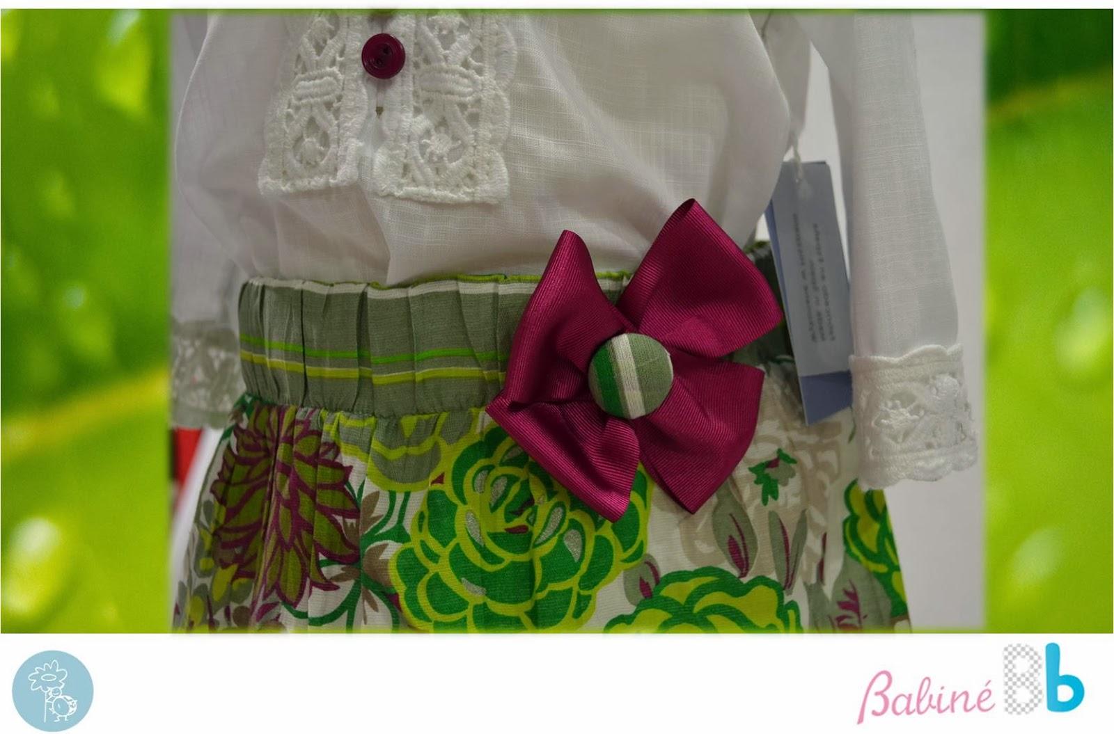 Babiné -Colección Primavera-Verano- Detalle falda y camisa