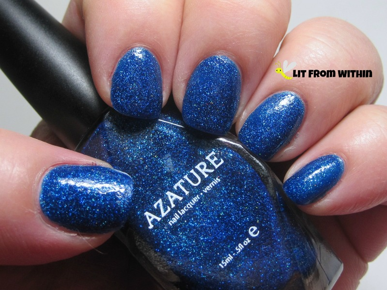 Azature Blue, an unbelievably sparkly, gorgeous medium bright blue
