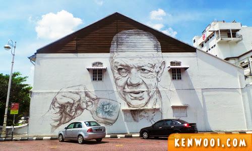 ipoh wall art mural uncle coffee