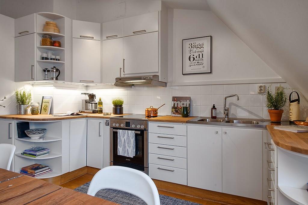 amenajari, interioare, decoratiuni, decor, design interior, mansarda, apartament 3 camere, stil scandinav, plan deschis, living, bucatarie,