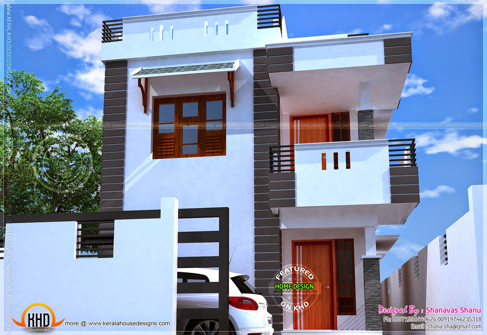 Small villa with floor plans home kerala plans for Villa design plan india