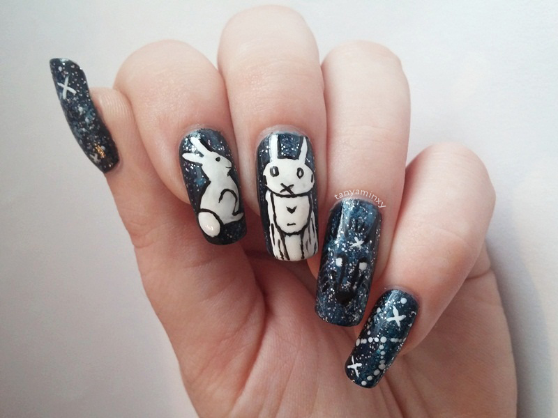 Chiara Bautista Nails Nail Art Design NOTD Manicure Bunny Girl Wolf Galaxy