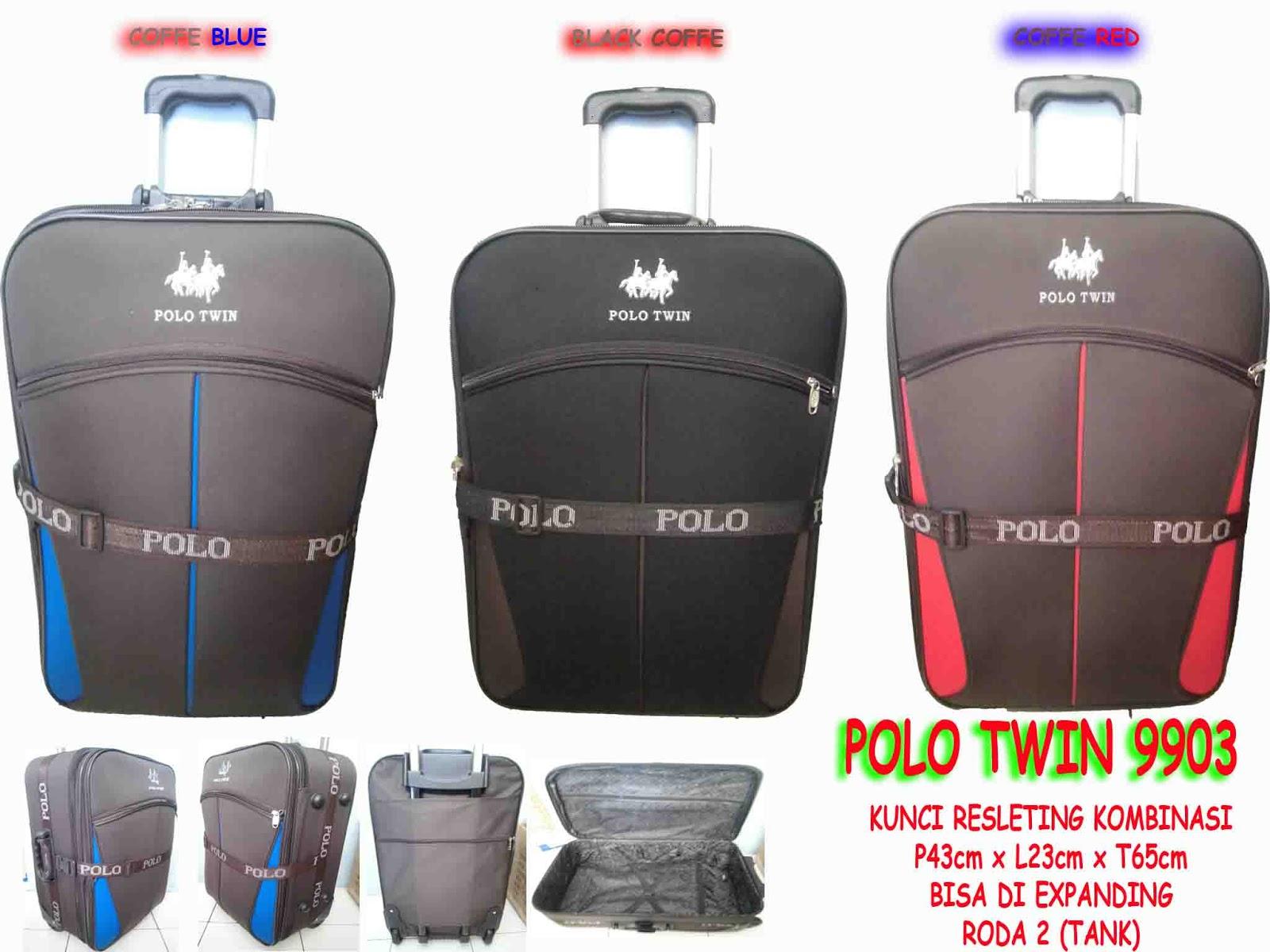 Distributor Tas Rangsel Tas Koper Trolley Polo Twin 9903