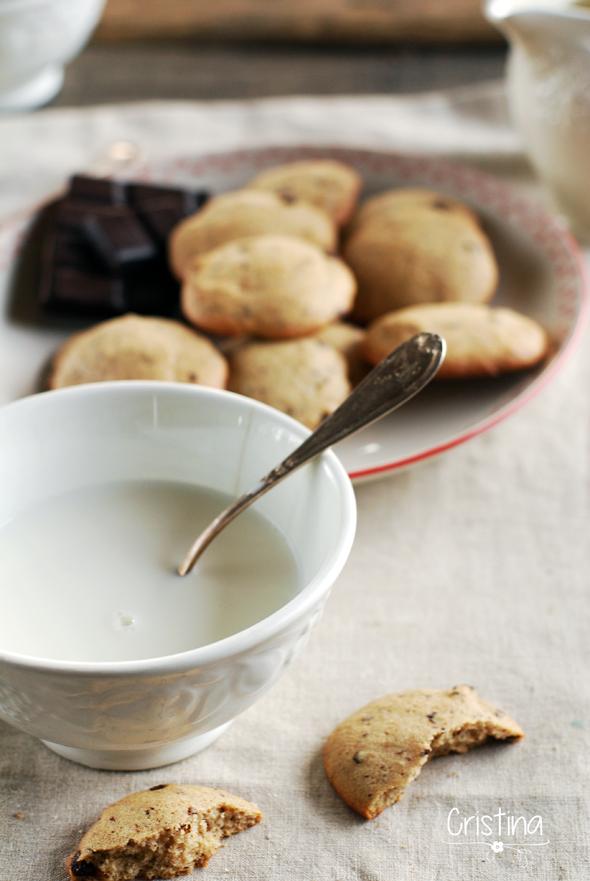 galletas de espelta y chocolate