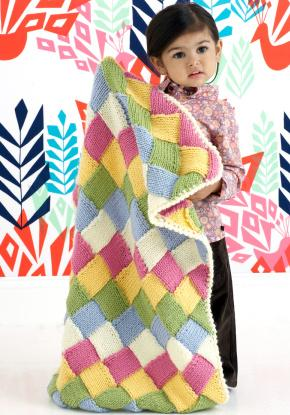 free baby knitting pattern, entrelac baby blanket patterns