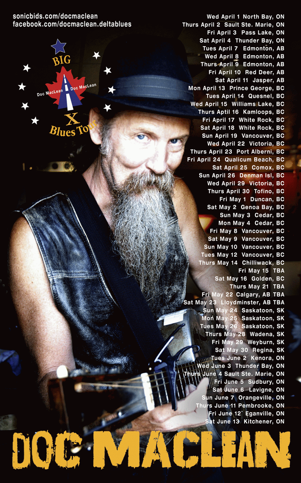 Tour Poster, western/central dates