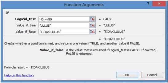 fungsi argumen if
