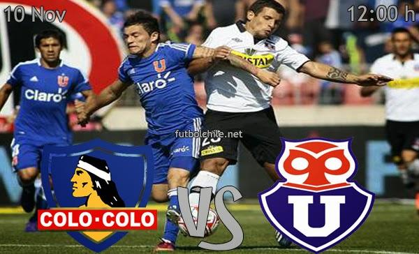 Colo Colo vs Universidad de Chile - Campeonato Apertura - 12:00 h - 10/11/2013